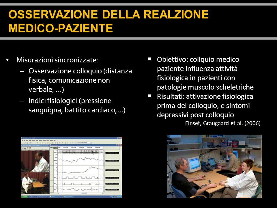 OSSERVAZIONE DELLA REALZIONE MEDICO-PAZIENTE
