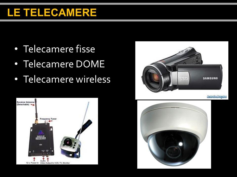 LE TELECAMERE Telecamere fisse Telecamere DOME Telecamere wireless