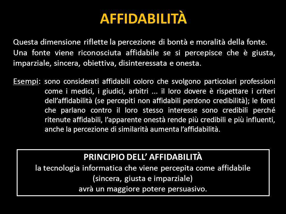 PRINCIPIO DELL' AFFIDABILITÀ