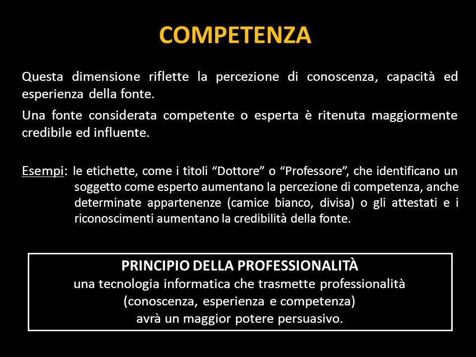 PRINCIPIO DELLA PROFESSIONALITÀ