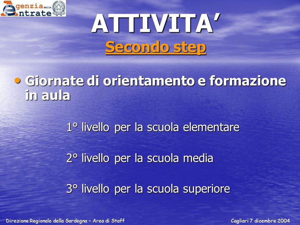 ATTIVITA' Secondo step