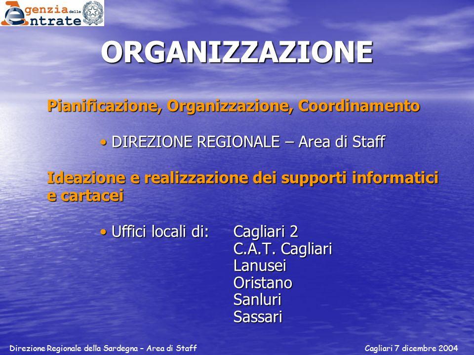 ORGANIZZAZIONE Pianificazione, Organizzazione, Coordinamento