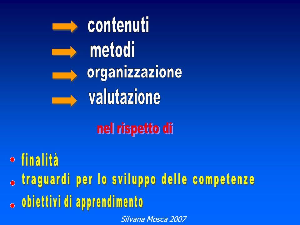 contenuti metodi organizzazione valutazione nel rispetto di