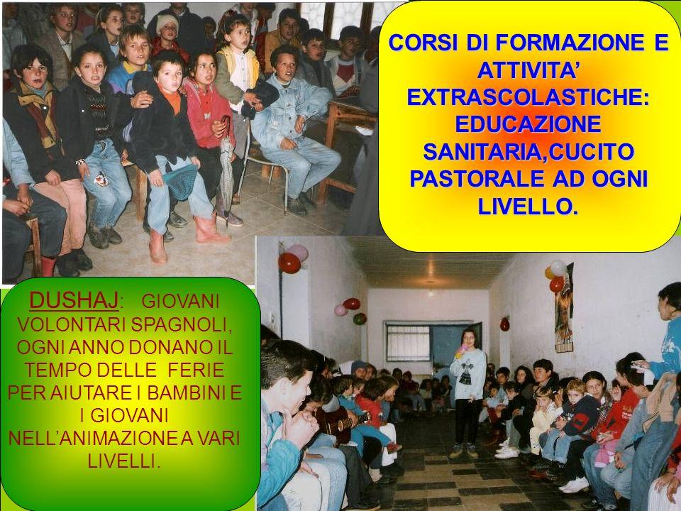 CORSI DI FORMAZIONE E ATTIVITA' EXTRASCOLASTICHE: EDUCAZIONE SANITARIA,CUCITO PASTORALE AD OGNI LIVELLO.