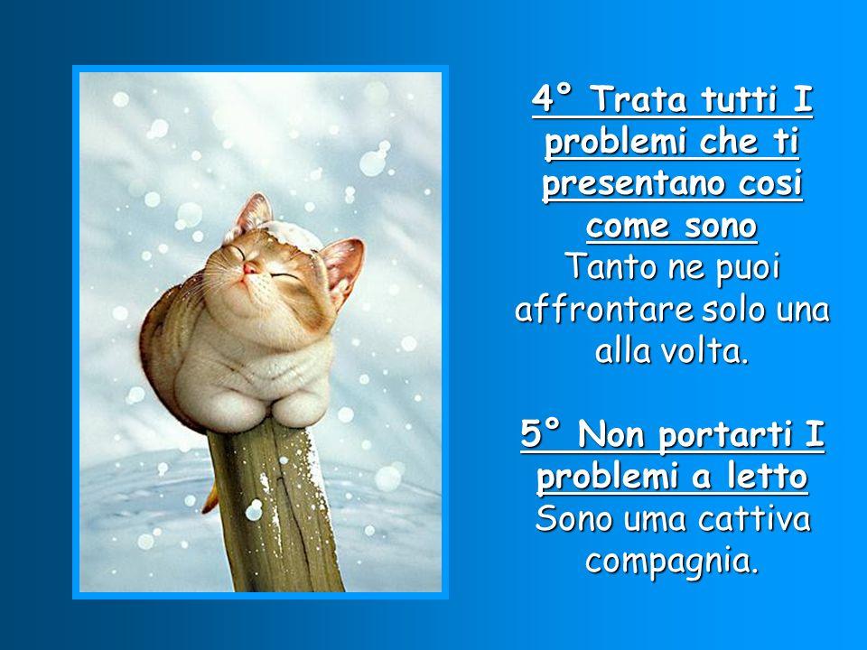4° Trata tutti I problemi che ti presentano cosi come sono Tanto ne puoi affrontare solo una alla volta.