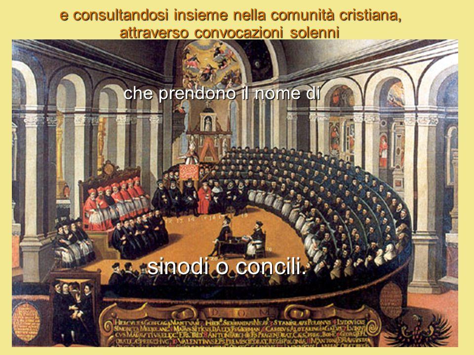 sinodi o concili. che prendono il nome di
