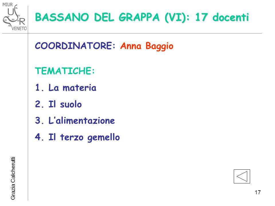 BASSANO DEL GRAPPA (VI): 17 docenti