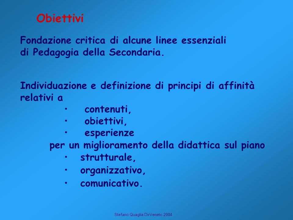Obiettivi Fondazione critica di alcune linee essenziali