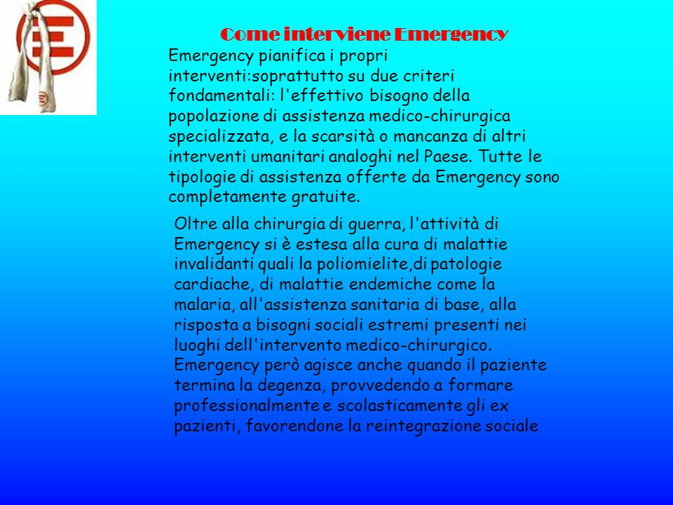 Come interviene Emergency