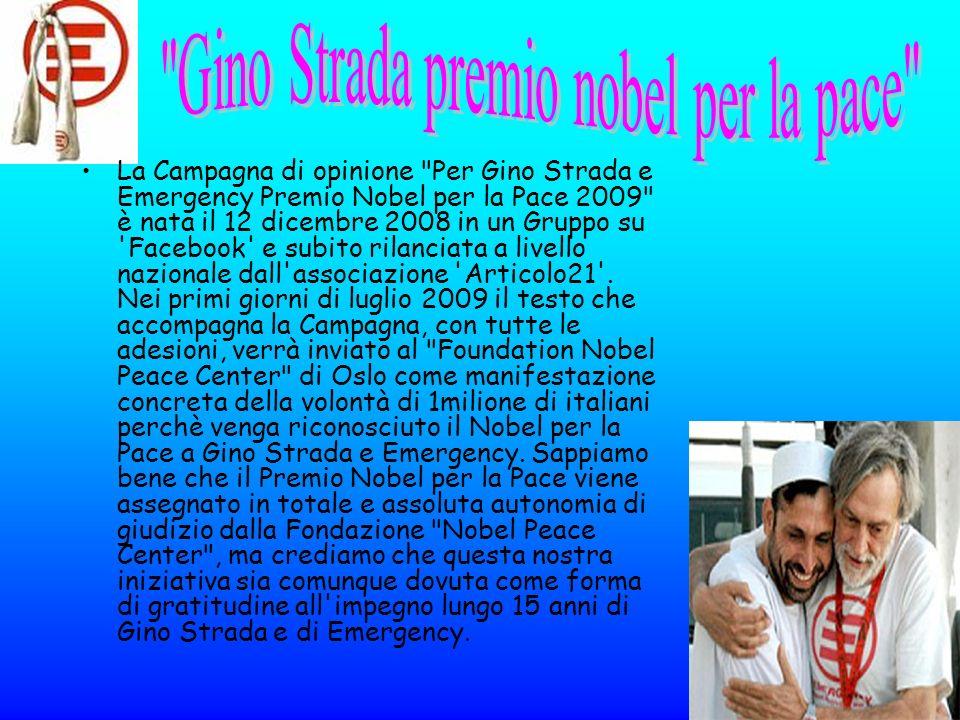 Gino Strada premio nobel per la pace