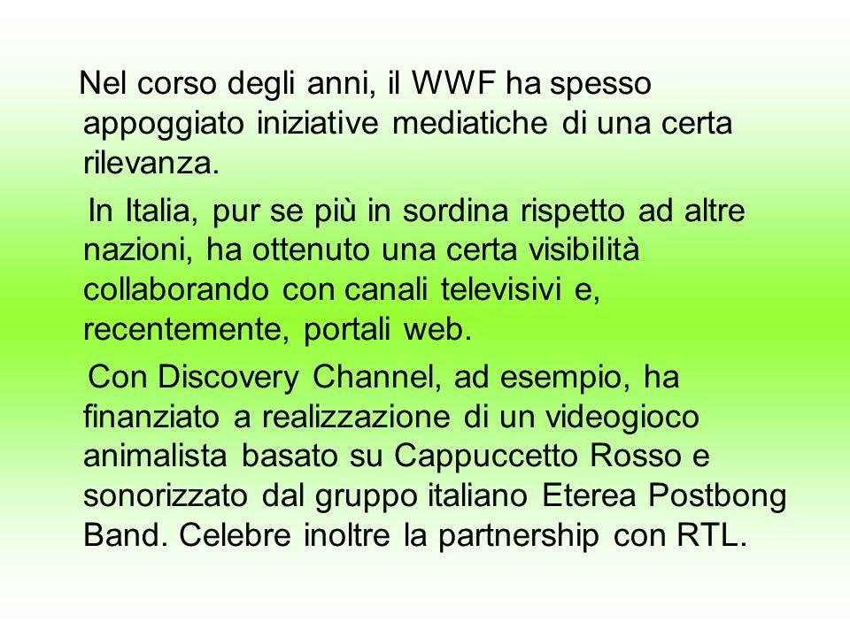 Nel corso degli anni, il WWF ha spesso appoggiato iniziative mediatiche di una certa rilevanza.