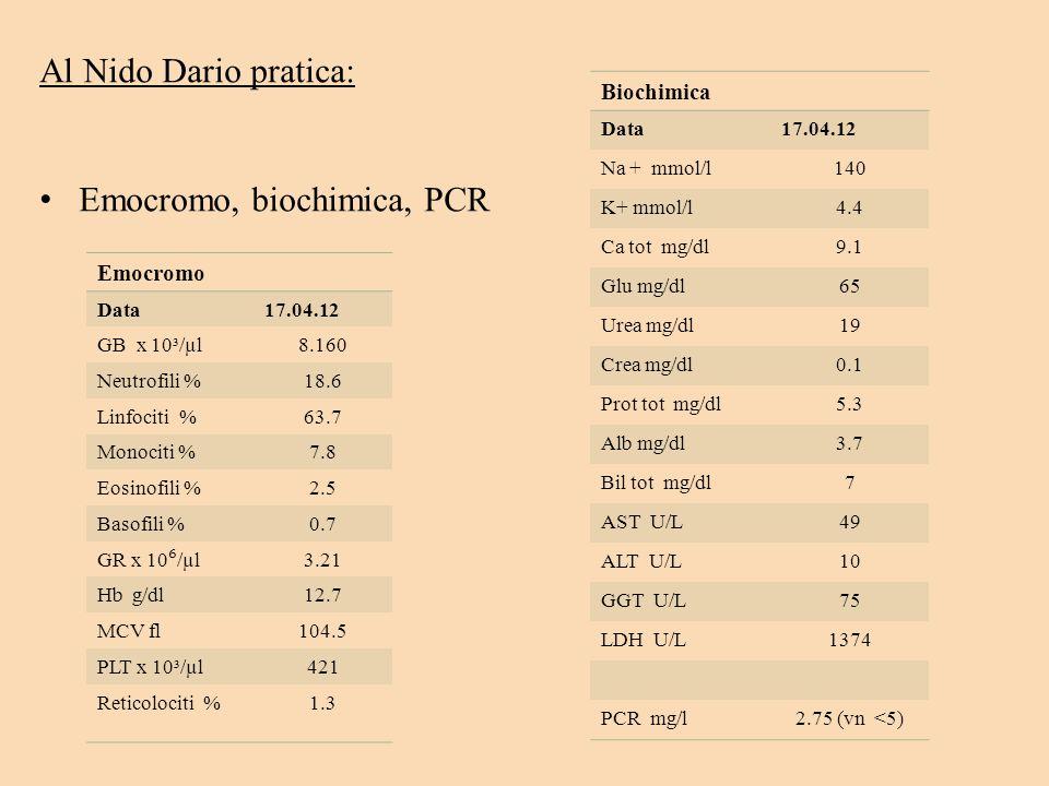 Emocromo, biochimica, PCR
