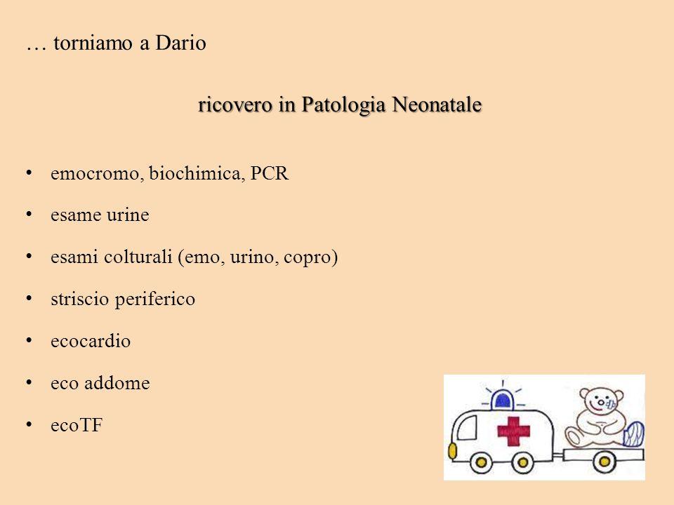 ricovero in Patologia Neonatale