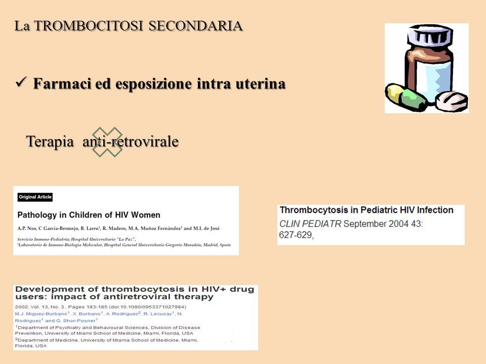 Farmaci ed esposizione intra uterina