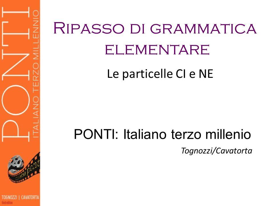 Ripasso di grammatica elementare PONTI: Italiano terzo millenio