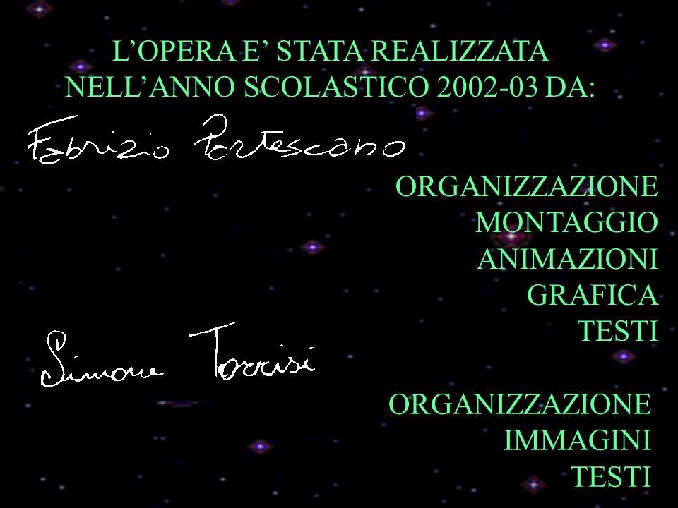 L'OPERA E' STATA REALIZZATA NELL'ANNO SCOLASTICO 2002-03 DA: