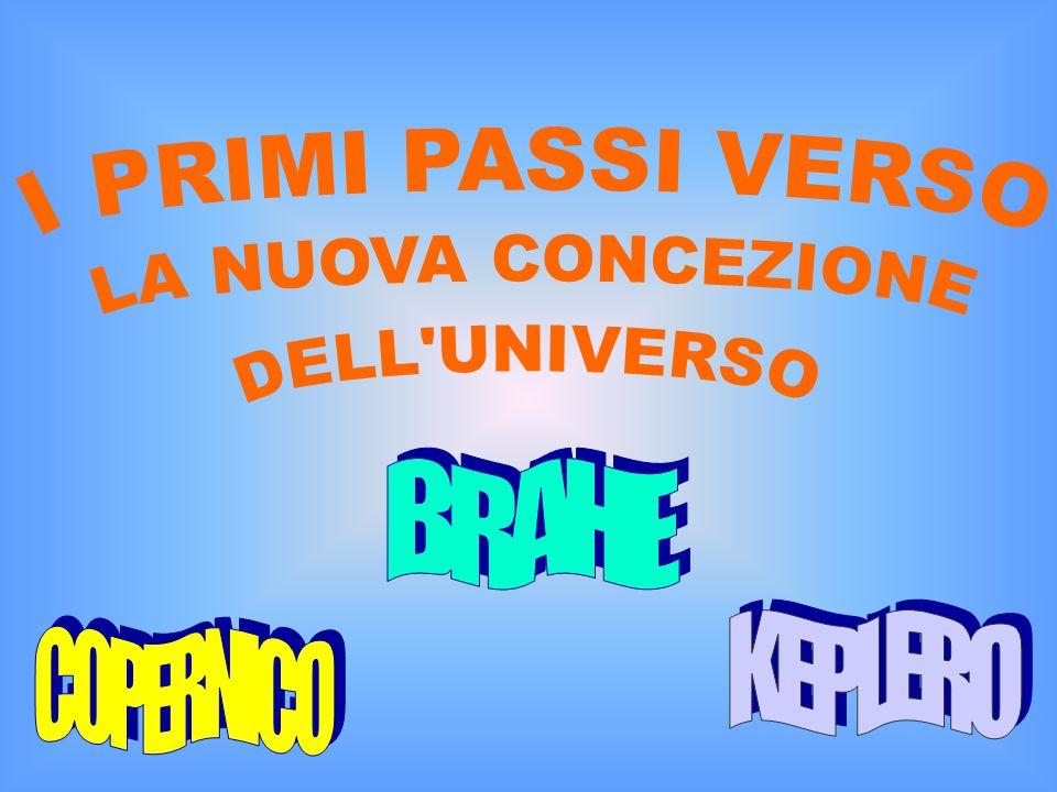 LA NUOVA CONCEZIONE I PRIMI PASSI VERSO DELL UNIVERSO BRAHE KEPLERO