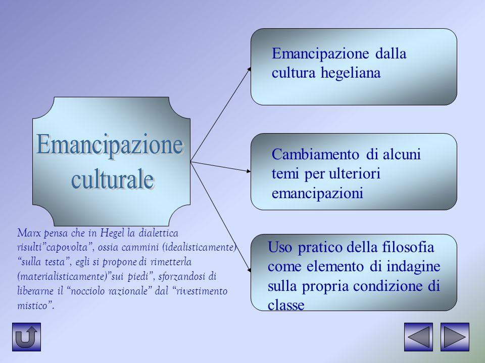 Emancipazione culturale Emancipazione dalla cultura hegeliana