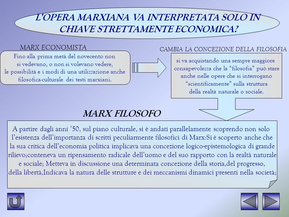 L'OPERA MARXIANA VA INTERPRETATA SOLO IN