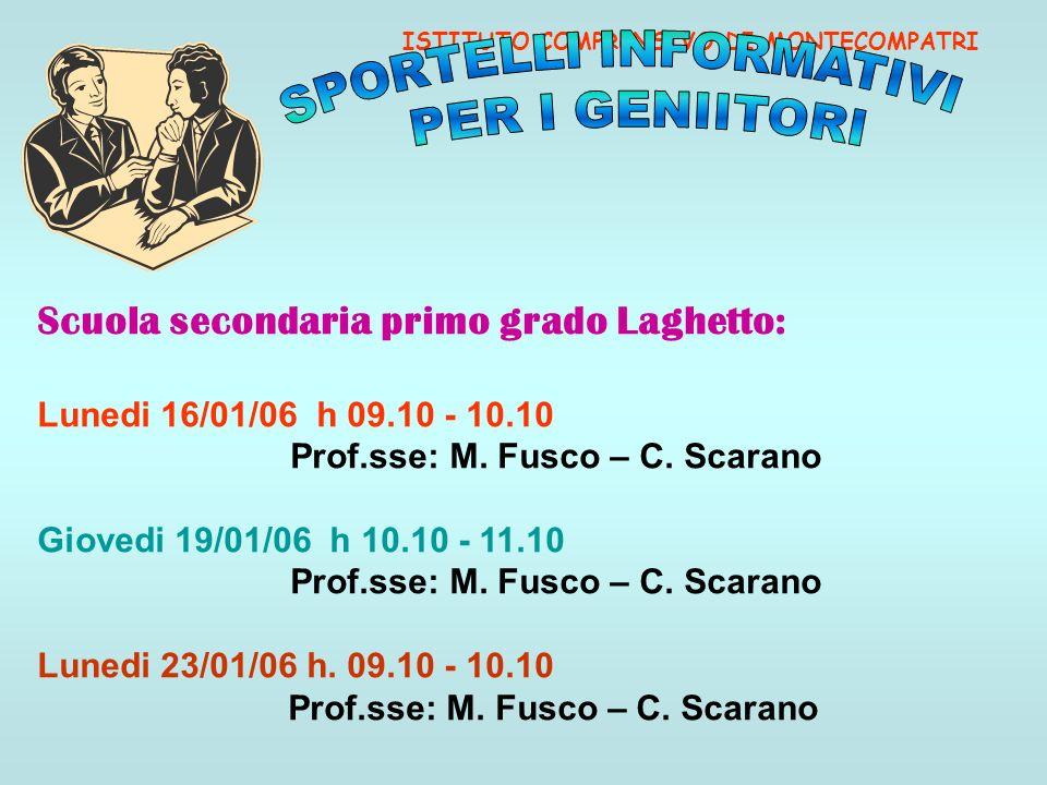 Prof.sse: M. Fusco – C. Scarano