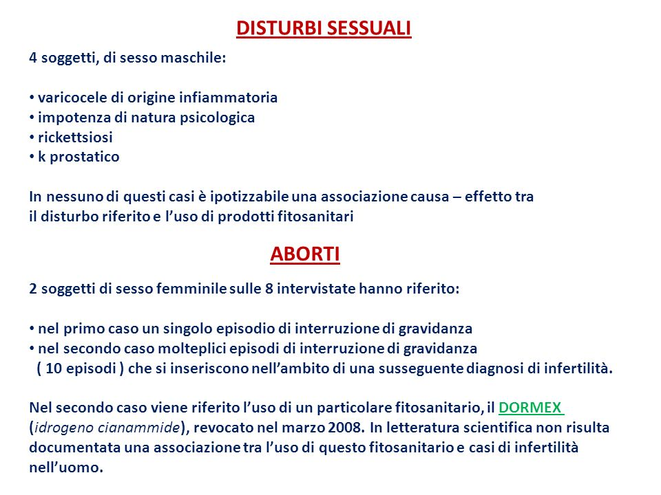 DISTURBI SESSUALI ABORTI