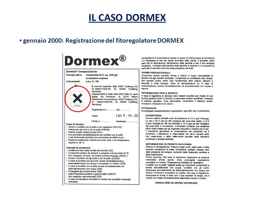 gennaio 2000: Registrazione del fitoregolatore DORMEX
