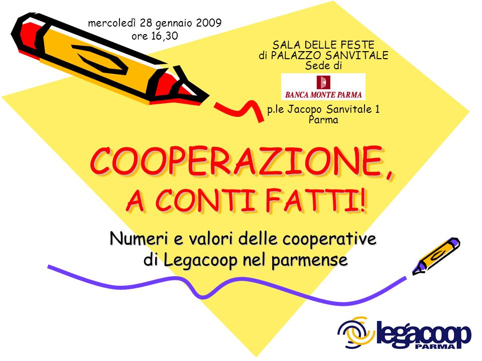 COOPERAZIONE, A CONTI FATTI!