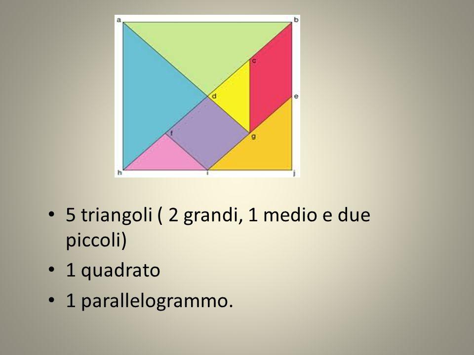 5 triangoli ( 2 grandi, 1 medio e due piccoli)