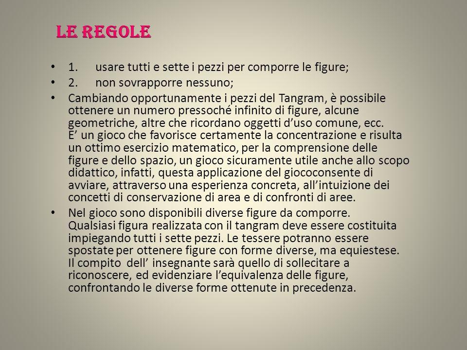 Le regole 1. usare tutti e sette i pezzi per comporre le figure;