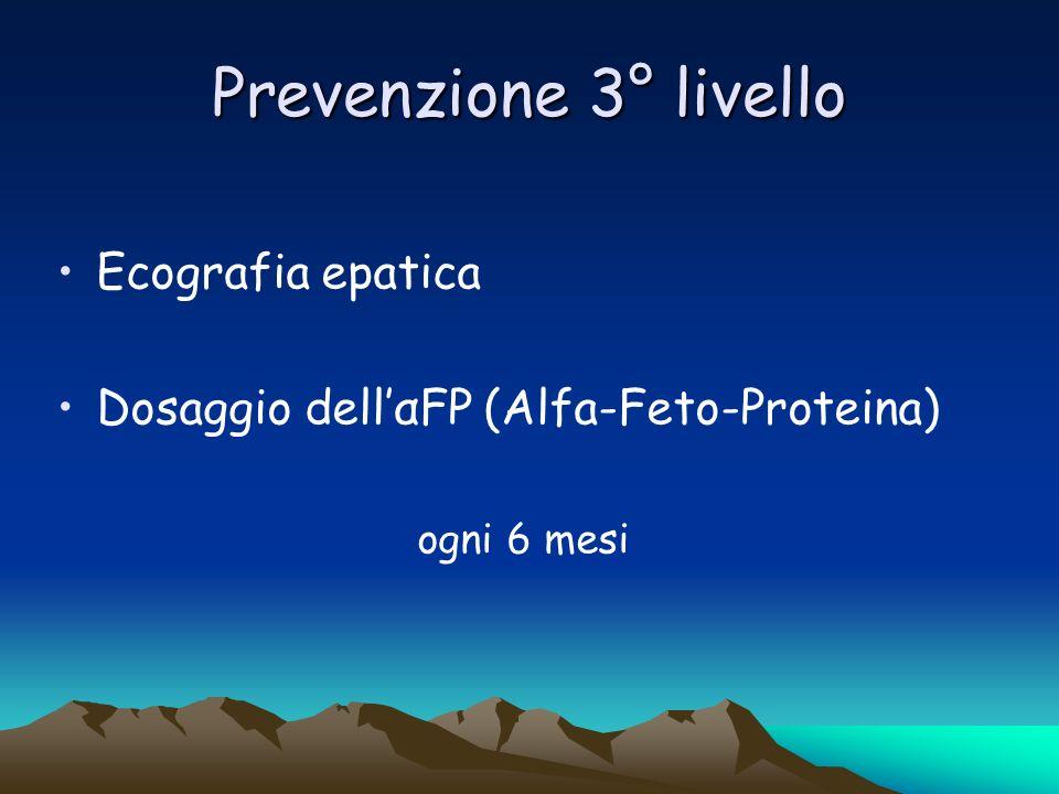 Prevenzione 3° livello Ecografia epatica