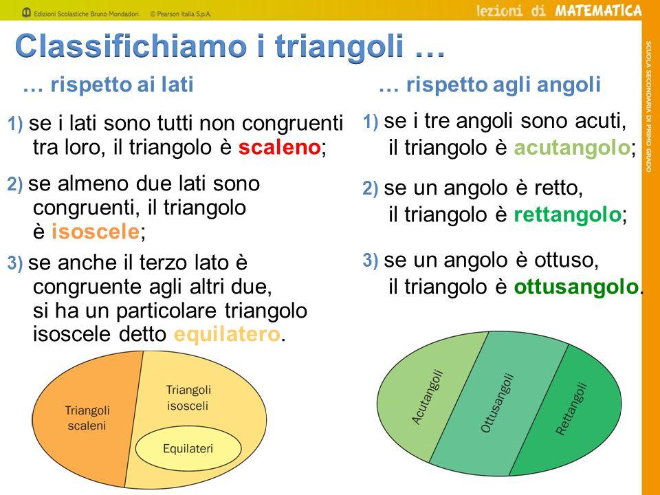 Classifichiamo i triangoli …