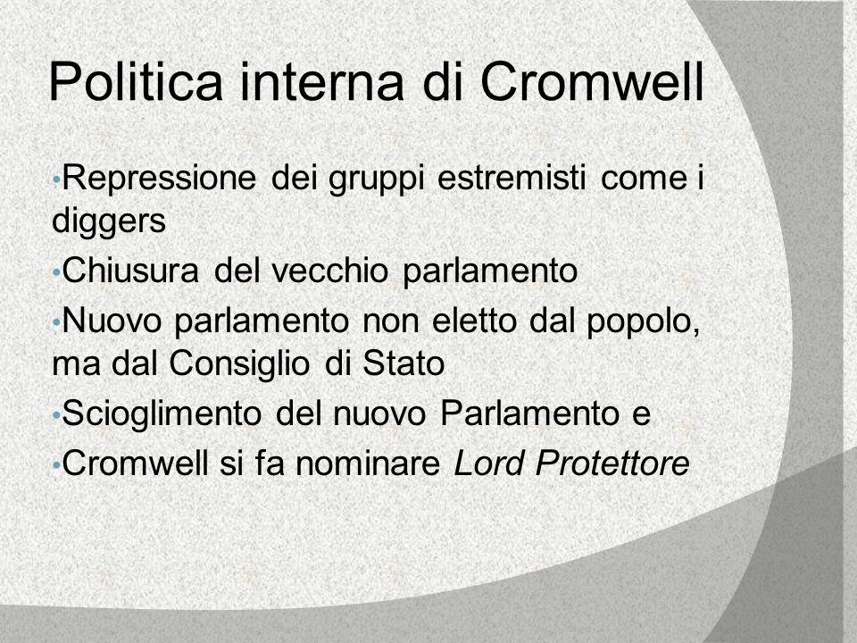 Politica interna di Cromwell