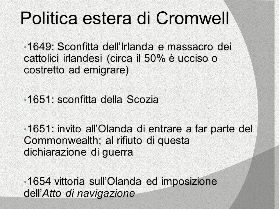 Politica estera di Cromwell