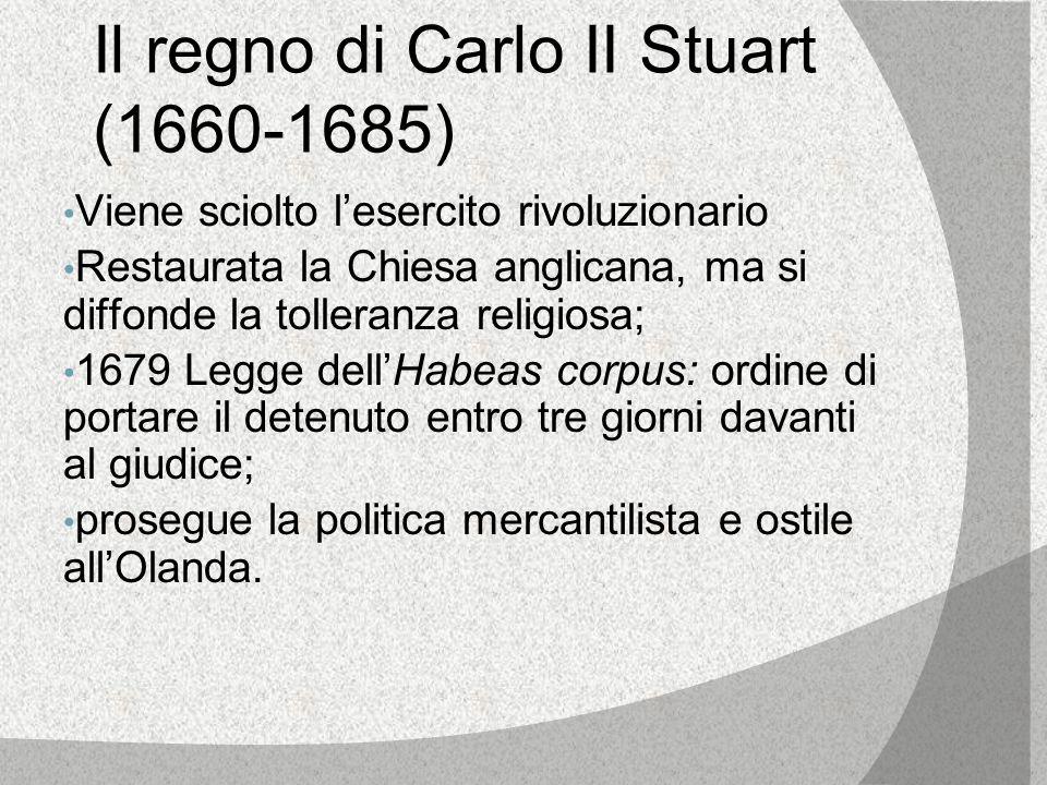 Il regno di Carlo II Stuart (1660-1685)