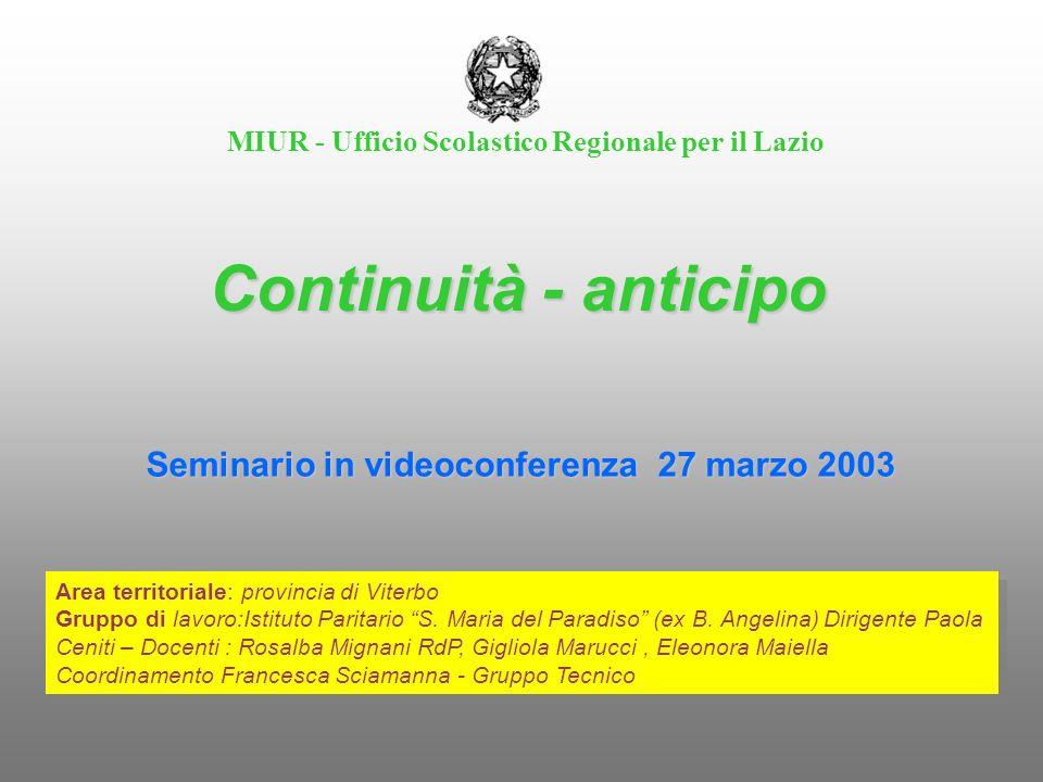 MIUR - Ufficio Scolastico Regionale per il Lazio