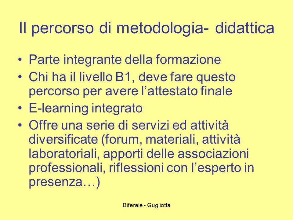 Il percorso di metodologia- didattica