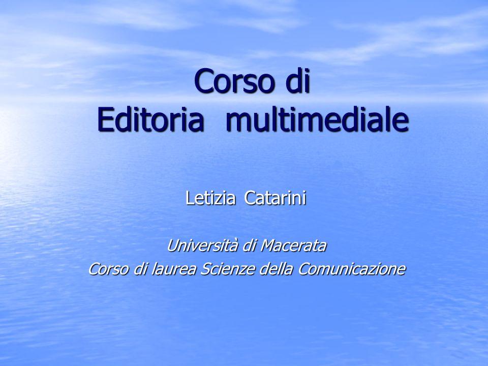 Corso di Editoria multimediale