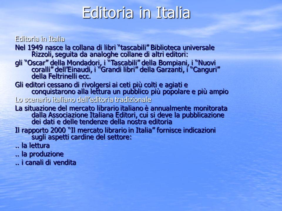 Editoria in Italia Editoria in Italia
