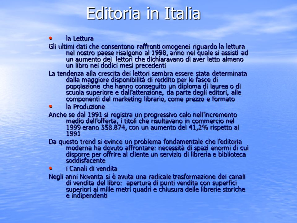 Editoria in Italia la Lettura