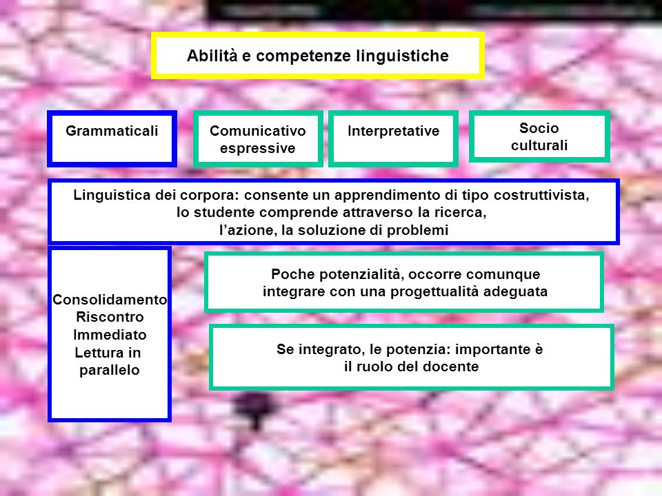 Abilità e competenze linguistiche