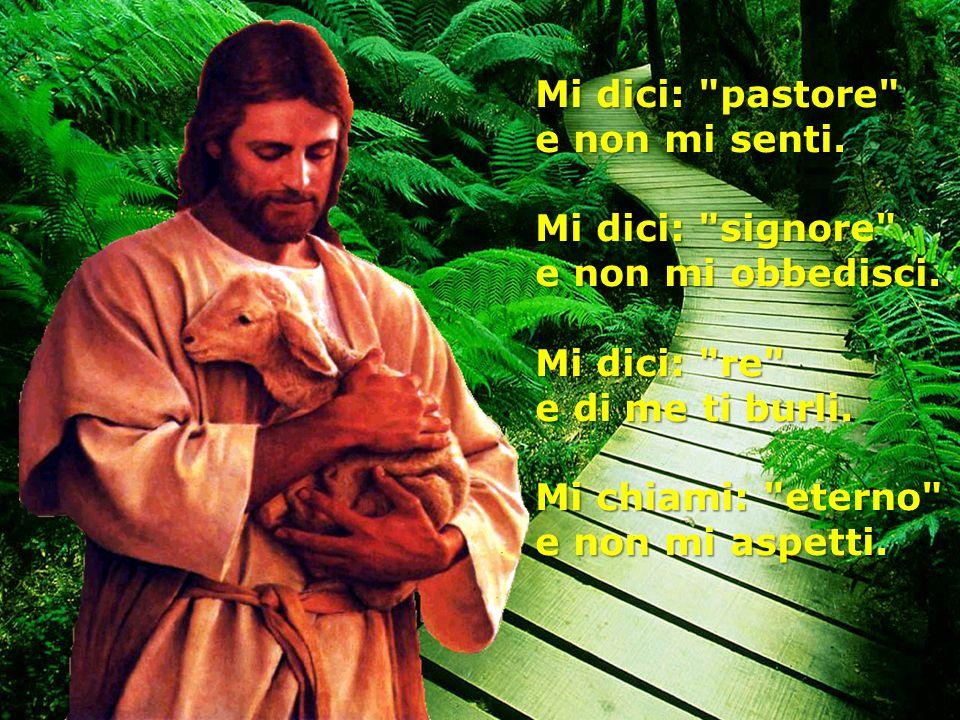 Mi dici: pastore e non mi senti. Mi dici: signore e non mi obbedisci. Mi dici: re e di me ti burli.