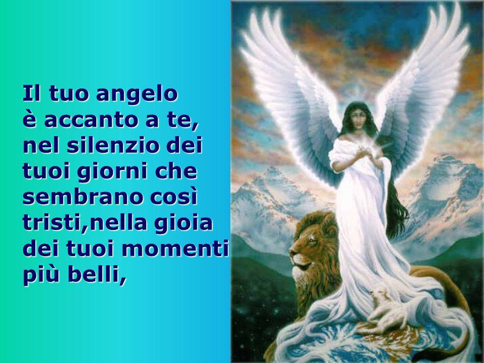 Il tuo angelo è accanto a te, nel silenzio dei tuoi giorni che sembrano così tristi,nella gioia dei tuoi momenti più belli,