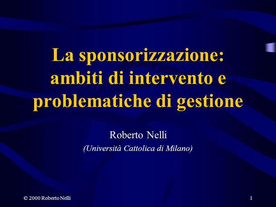 La sponsorizzazione: ambiti di intervento e problematiche di gestione