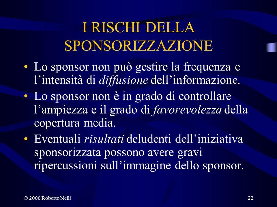 I RISCHI DELLA SPONSORIZZAZIONE