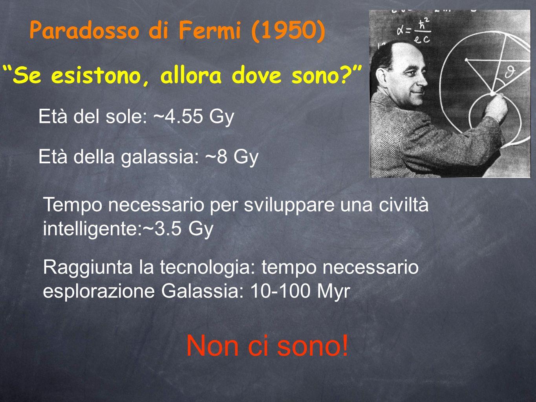 Non ci sono! Paradosso di Fermi (1950)