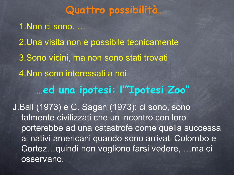 …ed una ipotesi: l' Ipotesi Zoo