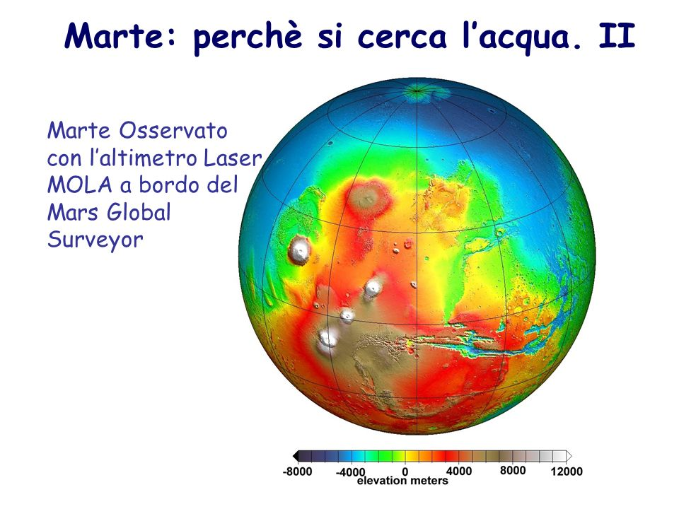 Marte: perchè si cerca l'acqua. II