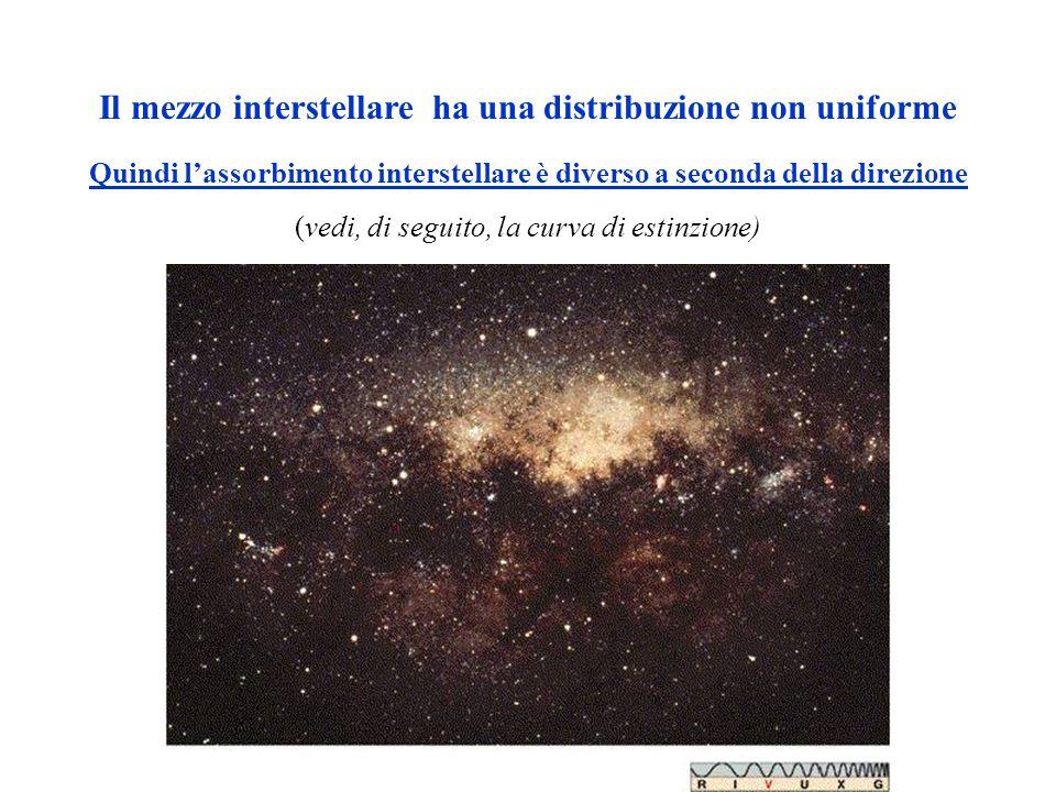 Il mezzo interstellare ha una distribuzione non uniforme