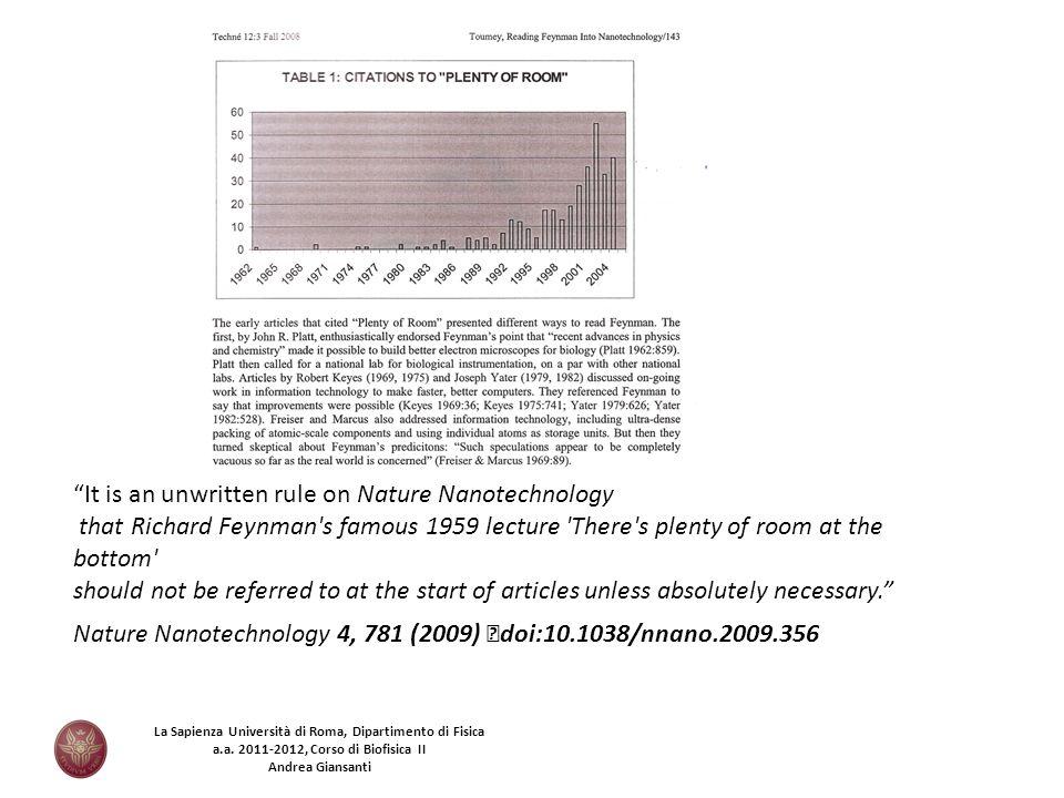 It is an unwritten rule on Nature Nanotechnology
