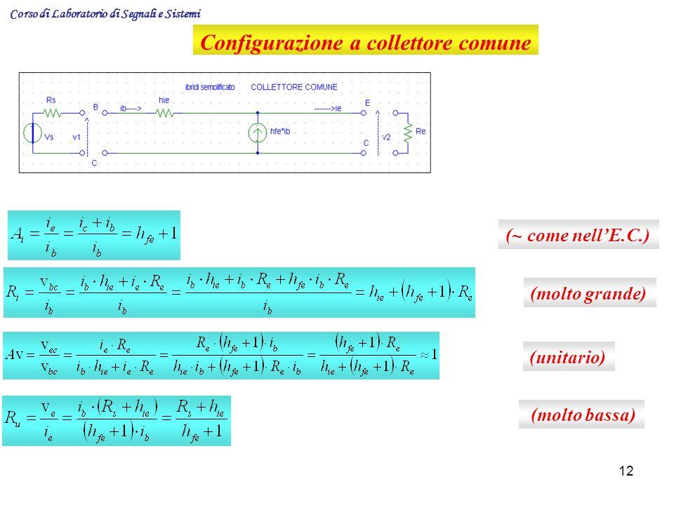 Configurazione a collettore comune